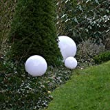 Dapo Kugelleuchte Gartenlampe Gartenleuchte Marlon 3er Set (30+40+50cm) Außenleuchte Kugellampe mit Erdspieß, E27, Kugelleuchte Dekoration