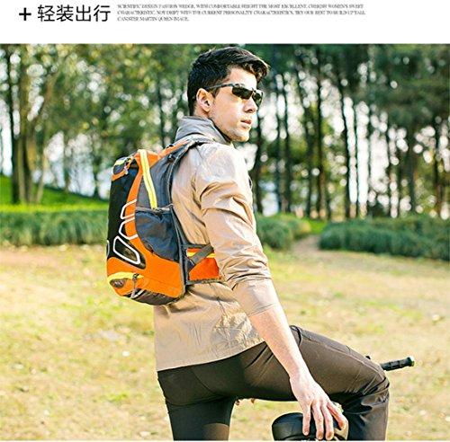 Bovake Radfahren Fahrrad Outdoor Sport Rucksack Reithelm Wasser Blase Tasche Orange