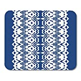 Mouse Pads Tie Dye Lace Brush Border Ethnic Necklace Ikat Shibori with Stripes and Chevron Ink Japanese Bohemian Mouse Pad for Notebooks,Desktop Computers Office Supplies