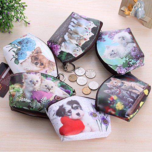 Dairyshop portafogli donna Portachiavi della borsa della carta del supporto dell'anello chiave della cassa del sacchetto moneta donne sveglie (5) 3