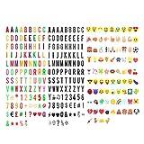 Buchstaben Lightbox,JBSON Lightbox symbole 293 Schwarz bunt Buchstaben Zahlen Zeichen Emojis und spezielle dekorative Symbole Cinema Signs für A4 Cinematic Lightbox