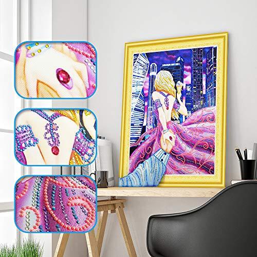 Jkhhi 5D DIY Diamant Malerei Kreuzstich Bastelset, Voll Strass Stickerei Kreuzstich Painting Bilder Gemälde Arts Craft, Wohnzimmer wandaufkleber Dekor (And Arts Crafts Winter)