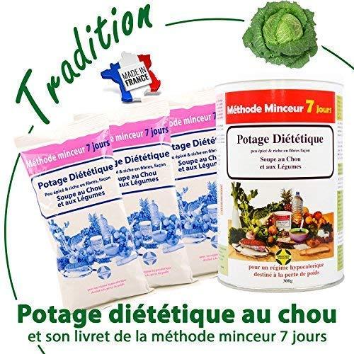 84 portions de soupe au chou brûle graisses pour maigrir et affiner sa taille | Livret Méthode Minceur gratuit |18 ans de succès – Diététique de fabrication française