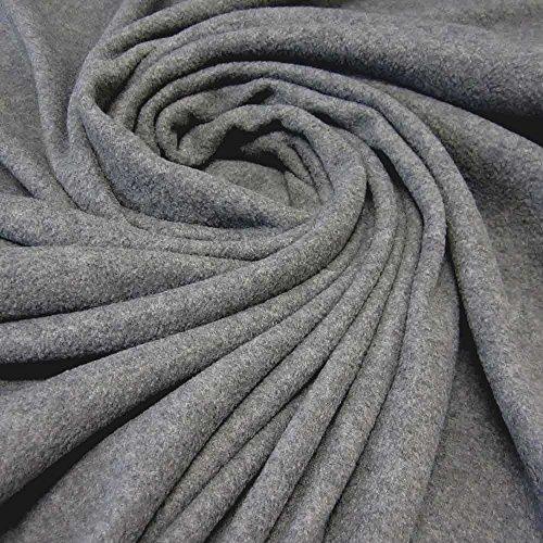 Stoff Meterware Fleece Polar - Fleece weich kuschelig grau Kleiderstoff