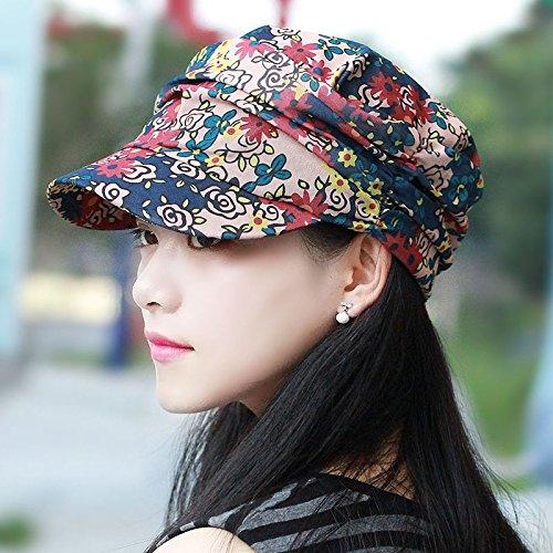 ng und Sommer cap Saika caubeen atmungsaktive modische Kopfbedeckungen outdoor alpine Hut sind Code 55-58 cm verstellbar blau-rot (Cowboy-hüte Für Kinder In Bulk)