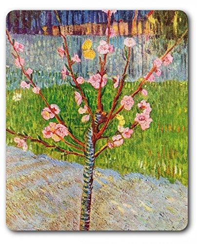 1art1 88938 Vincent Van Gogh - Blühender Pfirsichbaum, 1888 Mauspad 23 x 19 cm