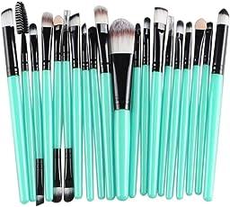 Hihool 20 pcs Makeup Brush Set tools Make-up Toiletry Kit Wool Make Up Brush Set (Black)