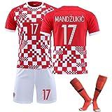 Trajes de fútbol, Modric Mandzukic Rakitc, 2021 New Home Soccer Uniform, Limpieza repetible, Familiares y Amigos