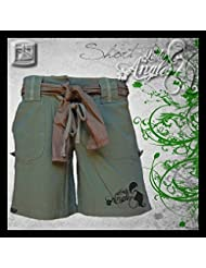 "'Hotspot Diseño ""Lady–Pantalón corto–, pantalones cortos para mujer, Oliva, mujer, color verde oliva, tamaño XL"