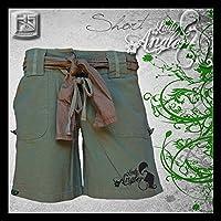 "'Hotspot Diseño ""Lady–Pantalón corto–, pantalones cortos para mujer, Oliva, mujer, color Verde - verde oliva, tamaño XL"