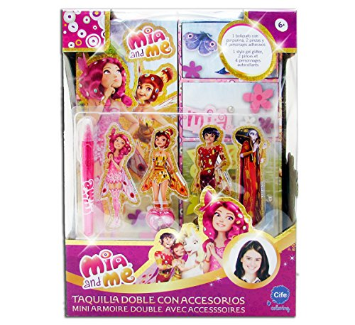 Coloring - Taquilla doble Glitter, diseño Mia & Me (Cife 86353)