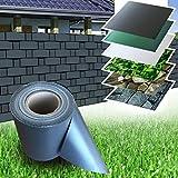 PVC Zaun Sichtschutz Sichtschutzfolie anthrazit 35 m Rolle Doppelstabmatten Windschutz Sichtschutzstreifen