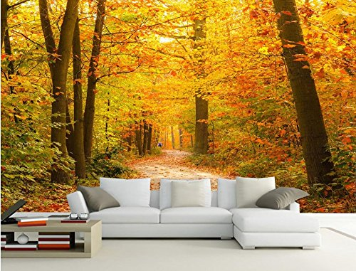 LWCX Custom 3d wallpaper Maple Grove Baum Bäume TV Hintergrund Wand klassische Tapeten für Wände Wandbild 3d wallpaper 430X280CM -