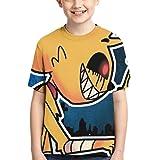 Mikecra-CK Lindo Estilo Fresco Camiseta de Manga Corta Mikecra-CK Camisetas de Manga Corta niños Adolescentes niñas niños Cam