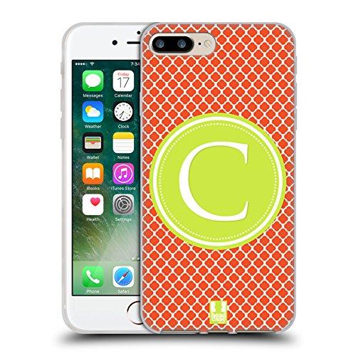 Head Case Designs Bamboo Floreale Lacche Cover Morbida In Gel Per Apple iPhone 7 Plus / 8 Plus Lettera C