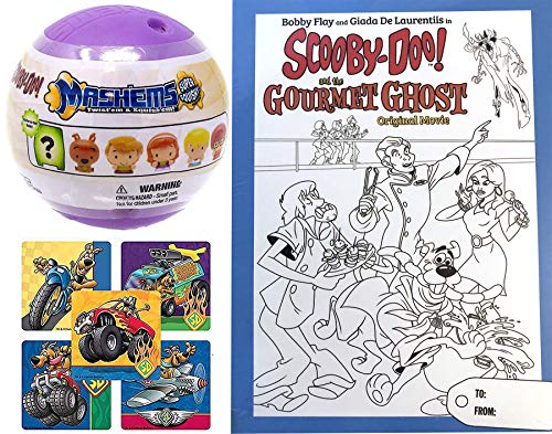 Chef Scooby-Doo Mystery Spooky Case Gourmet Ghost Cartoon Movie DVD Bobby Flay & Giada pack Coloring Cover + Soft Figure with Action Stickers Whats Cooking 2 Pack