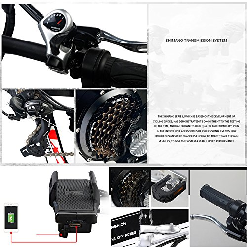 "6138OrTVXRL. SS500  - GTYW Electric Folding Bicycle Mountain Bicycle Adult Bicycle - 26""-90km Life"