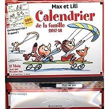 Calendrier de la famille Max et Lili 2017-2018