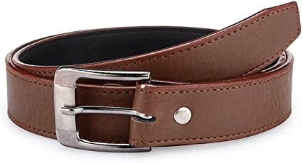Krystle Boy's PU Leather Belt (KRY-BOY-BRN1-BELT, Brown, Free Size)