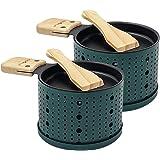 COOKUT - Lumi - Une raclette à la Bougie - Faites Fondre Votre Fromage en 3 Minutes - A Table ou Devant la télé - Spatule Boi