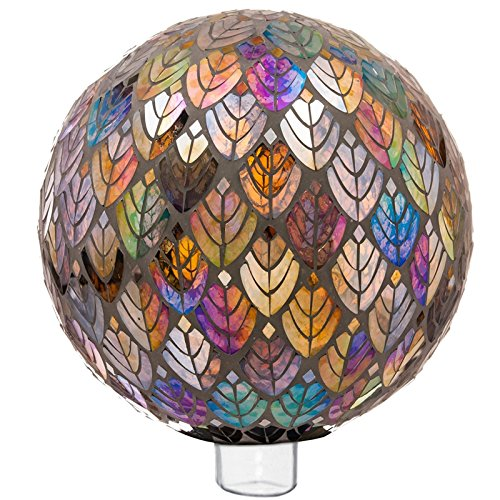 Evergreen Baroque Splendor Mosaic Gazing Ball
