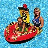 QYHSS Juguete de Piscina Inflable, Flotador de Piscina Juguete de Verano, Flotador Inflable Flotante de la Piscina del Barco del Pirata del, Playa Ocean para niños Adultos Chicas