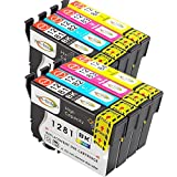 Win-Tinten Kompatibel Tintenpatronen Epson T1281 T1282 T1283 T1284 T1285 für Epson Stylus s22 sx125 sx130 sx230 sx235 sx235W sx420 sx420W sx425 sx425W sx430 sx430W sx435 sx435W sx440 sx440W Drucker (8er Set(2x Schwarz & 2x je C/M/Y))
