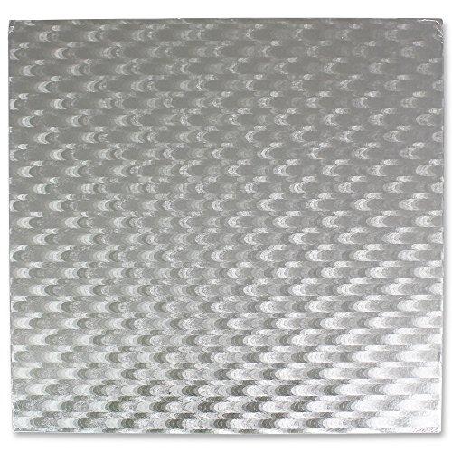 Kunststoff-platten Square Schweren (PME CBS858 Quadratische Tortenplatte 30 cm, 11 mm Dick, Kunststoff, Silver, cm, 30 x 1.1000000000000001 x 30 cm, 1 Einheiten)