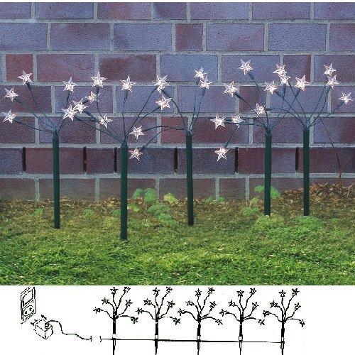 5x LED Leuchtstäbe 30 LED´s Warmweiß 44cm Sterne Sternenstäbe
