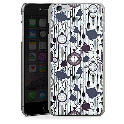 Apple iPhone 5s Housse Étui Protection Coque Thé heure temps Motif Motif CasDur anthracite clair
