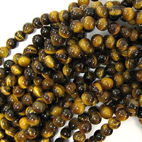 Superbe Perle 8mm ronde perles en pierre Oeil de Tigre