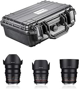 Samyang Video Lens Dslr Basic Set Canon Ef Black Camera Photo