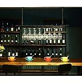 RACK MDELRuldeⓘ Porte-Verre à vin Casier à l'envers Style Simple Porte-Verre à vin Suspendu en Fer Étagère de décoration de P