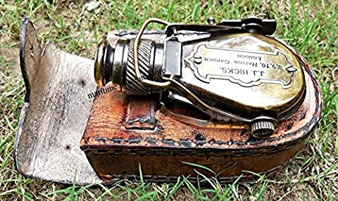 Antique-Style-Ships Pocket-Monocular-with-Leather-Box.C-3232