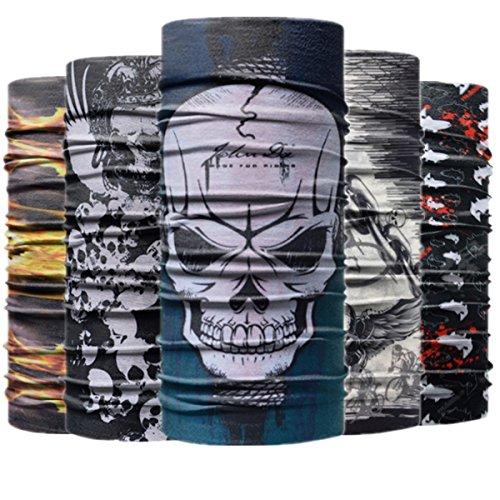 sex Elastische Sport Multifunktionstuch Sturmmaske Gesichtsmaske Bandana Schlauchtuch Halstuch für Motorrad Fahrrad Ski Paintball Gamer Yoga Wandern Reiten (Zufällige Farbe) ()