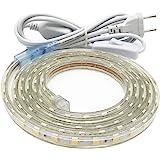 2M Led Streifen mit Schalter, Led Band, Led Leiste IP65 Wasserdicht, Warmweiß