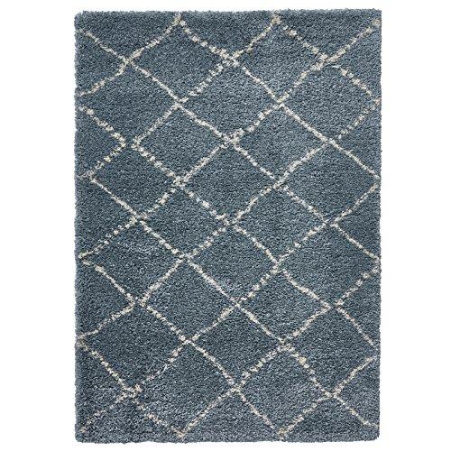 HomeLinenStore Designer Style Soft Shaggy Flor Qualität getuftet Diamant Teppiche/Teppich Teppiche, Blaugrün/Creme, Polypropylen, Teal/Cream, 120 x 170 cm -