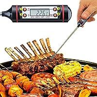 EGOTECH® Termómetro Digital de Cocina con Pincho de Acero Inoxidable 304, Pantalla LCD, Apagado Automático, Apto para Carne, BBQ, Horno, Líquido, Comida Bebé, Agua de Baño