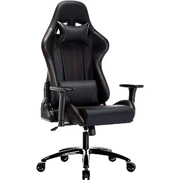 Amoiu Racing Chaise, Fauteuil de Gamer, Siège de Bureau de 3D Accoudoirs Réglable avec Appui tête Soutien Lombaire
