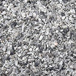 Steinteppich Grigio Bardiglio 4,8m/² Epoxidharz Bindemittel Steinboden Kieselboden Kiesboden 50kg Marmorkies + 3kg Bindemittel