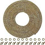 33 Piedi Catena per Braccialetto Collana Vintage Bronzo Catene Incrociate Intrecciate Fai Da Te Creazione di Gioielli (1,5 mm)