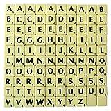Trimming Shop Marfíl Plástico Baldosas Negro Letras y Números para Trabajos Artísticos y Manualidades Manualidades Tablero Games and Joyería- Paquete de 100