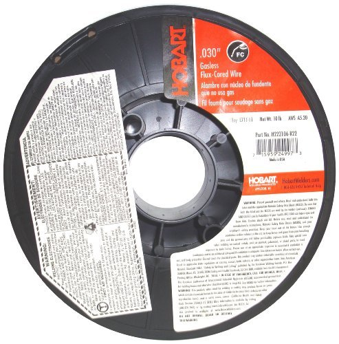 Hobart H222106-R22 10-Pound E71T-11 Carbon-Steel Flux-Cored Welding Wire, 0.030-Inch by Hobart - Cored Carbon