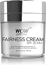 WOW Fairness SPF 20 PA++ No Parabens and Mineral Oil Cream, 50ml