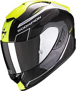 Scorpion Motorradhelm Exo 1400 Air Carbon Beaux White Neon Yellow Schwarz Gelb M Auto