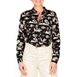 Scotch & Soda Oversized Boxy Fit Cotton Viscose Shirt in Various Prints Camicia Donna