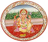 Aapno Rajasthan Marvel in Marble Hand Painted Lord Ganesh (32 cm x 32 cm x 10 cm, Set of 3)