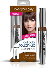 Cover Your Gray Waterproof Root Touch-Up - Dark Brown, 0.53 Ounce