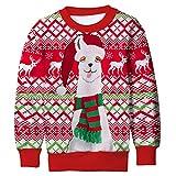 Funnycokid Kinder Sweatshirt Chrismas Costume 3D Cool Graphic Druck Christmas Alpaca Night Sweater Teen Jungen Pullover Sweatshirts Sweater 8-9 Yrs