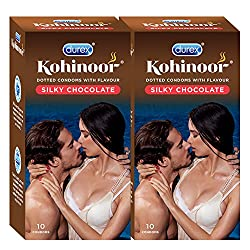 Durex Kohinoor Condoms - 10 Count (Pack of 2, Silky Chocolate)